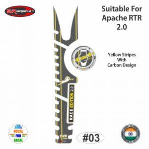 Apache RTR 2.0 Full Combo (Yellow Stripes Carbon Design)