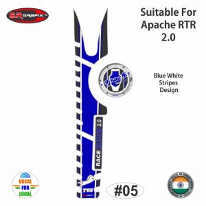 Apache RTR 2.0 Full Combo (Blue White Stripes Design)