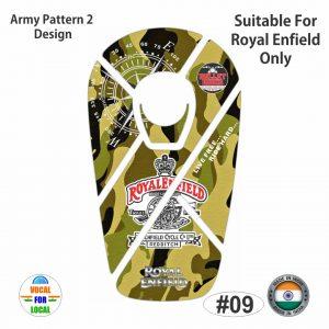 Royal Enfield Big Bullet Tank-pad (Army Pattern 2)